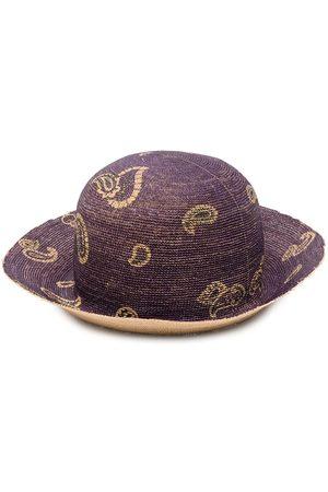 Etro Women Hats - Paisley print woven sun hat