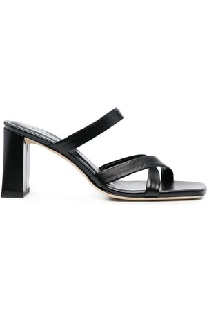 By Far Square-toe leather sandals