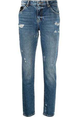 John Richmond Women Jeans - Logo-print denim jeans