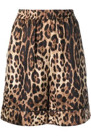 Dolce & Gabbana Women Shorts - Leopard print shorts