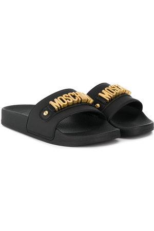 Moschino Girls Sandals - Logo-plaque sandals
