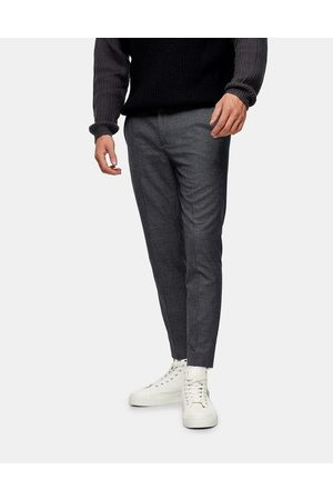 Topman Stretch skinny smart joggers in check