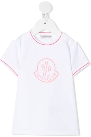 Moncler Short Sleeve - Logo-print stretch-cotton T-Shirt