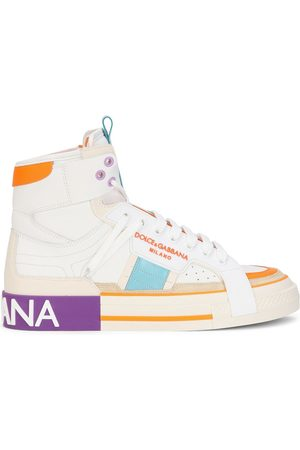 Dolce & Gabbana Women Sneakers - Colour-block panelled high-top sneakers
