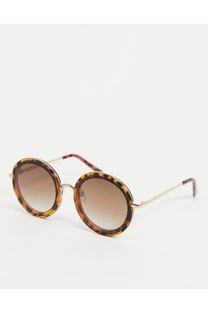 Jeepers Peepers Womens oversized round sunglasses in tort
