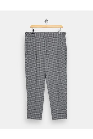 Topman Men Chinos - Dogtooth check tapered trousers in and white