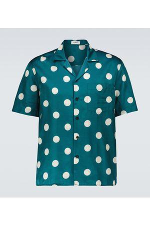 COMMAS Polka dot camp-collar shirt