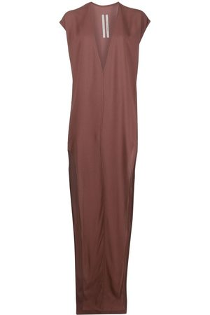 Rick Owens V-neck maxi dress