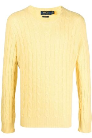 Yellow Cable Knit Sweaters For Men Compare Prices And Buy Online