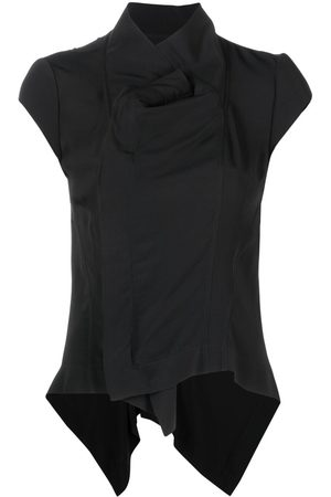 Rick Owens High-neck silk-blend T-shirt