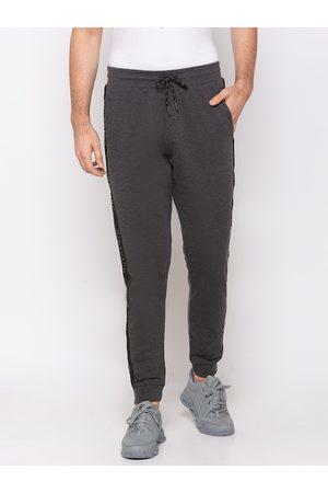 Giordano Men Grey Solid Slim-Fit Joggers