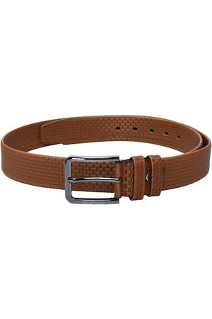 Kastner Men Tan Brown Textured Belt