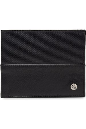 Carlton London Men Wallets - Men Black Textured Two Fold Wallet