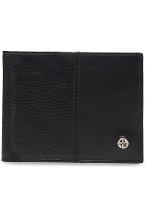 Carlton London Men Wallets - Men Black Textured Leather Two Fold Wallet