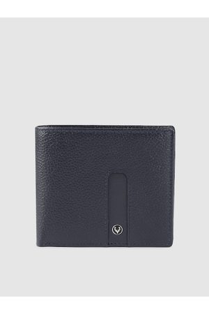 Allen Solly Men Wallets - Men Navy Blue Solid Two Fold Wallet
