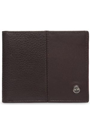 Carlton London Men Coffee Brown Solid Two Fold Wallet