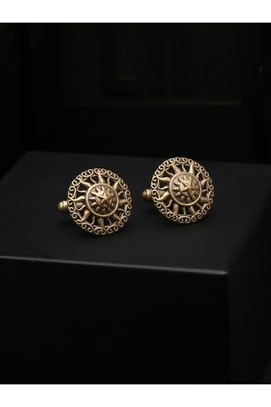 COSA NOSTRAA Gold-Toned Round Cufflinks