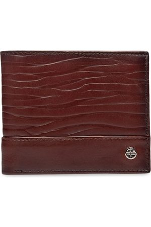 Carlton London Men Brown Solid Two Fold Wallet