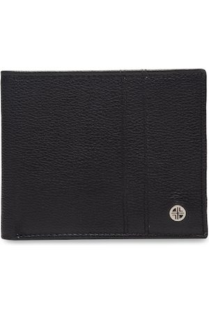 Carlton London Men Wallets - Men Black RFID Textured Leather Two Fold Wallet