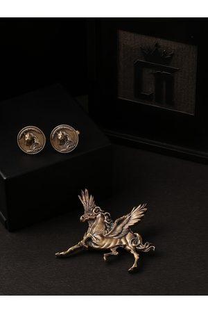 COSA NOSTRAA Men Gold-Toned Accessory Gift Set