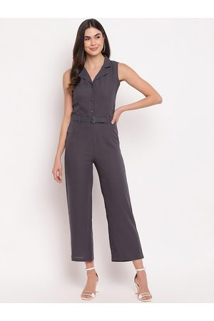 Mayra Women Jumpsuits - Women Grey Solid Jumpsuit