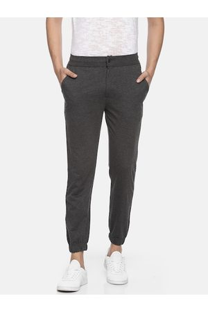 Pepe Jeans Men Charcoal Grey Regular Fit Solid Athleisure Joggers