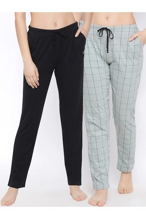 Kanvin . Women Pack Of 2 Pure Cotton Lounge Pants