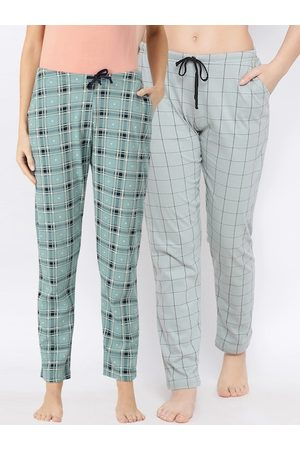 Kanvin Women Pack Of 2 Checked Lounge Pants