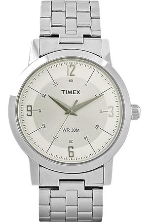 Timex Men Silver Toned Dial Watch