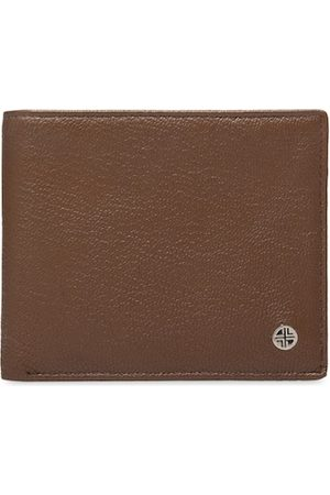 Carlton London Men Tan Textured Two Fold Wallet