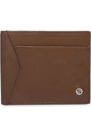 Carlton London Men Tan Solid Two Fold Wallet