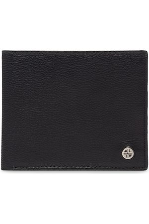 Carlton London Men Black Solid Two Fold Wallet