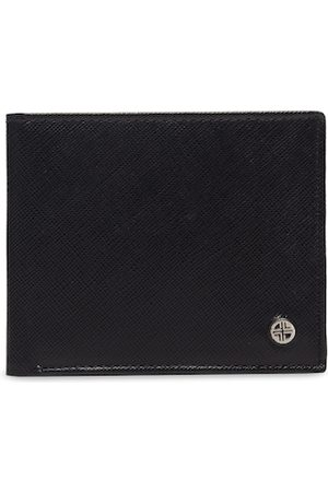 Carlton London Men Black Solid RFID Leather Two Fold Wallet