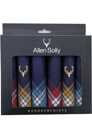 Allen Solly Men Pack Of 6 Navy Blue Solid Handkerchief Gift Set
