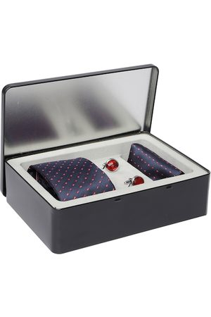 Lino Perros Men Navy & Red Accessory Gift Set