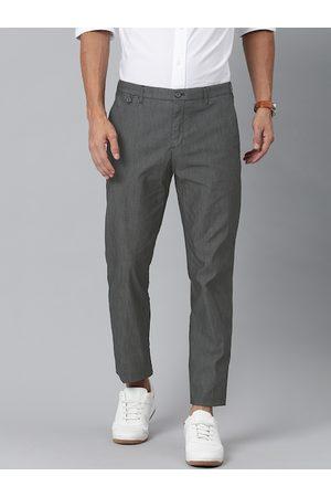 Tommy Hilfiger Men Grey Melange Slim Fit Solid Chinos
