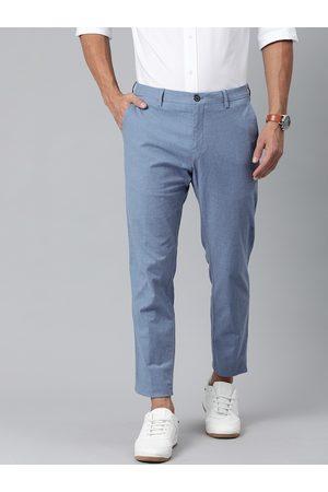 Tommy Hilfiger Men Blue Slim Fit Solid Chinos