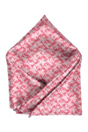 Blacksmith Men Pink & Red Printed Sustainable Linen Pocket Square