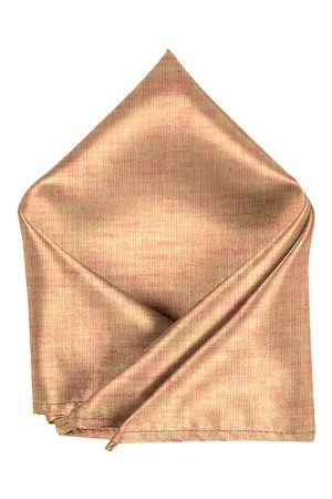 Blacksmith Men Peach-Colour Woven-Design Linen Pocket Square