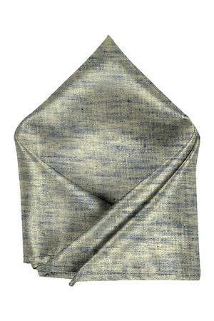 Blacksmith Men Green & Blue Woven-Design Sustainable Pocket Square