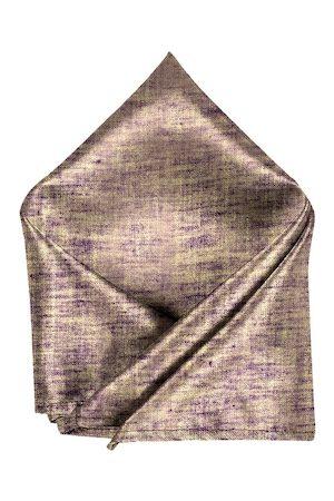Blacksmith Men Handkerchiefs - Men Purple & Gold-Coloured Woven-Design Pocket Square
