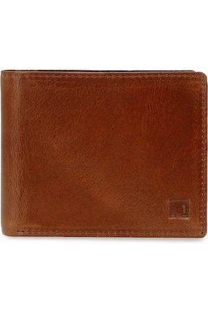 Impulse Men Brown & Black Textured Two Fold Wallet