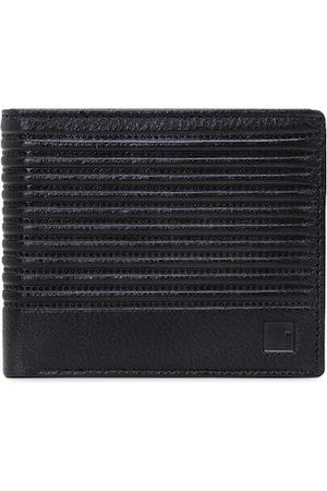 Impulse Men Wallets - Men Black Textured Genuine Leather Two Fold Wallet