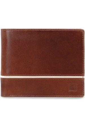 Impulse Men Wallets - Men Brown Solid Genuine Leather RIFD Two Fold Wallet