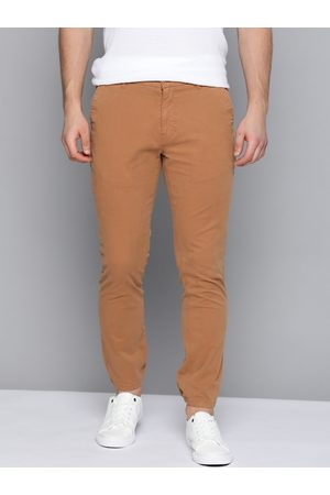 Mast & Harbour Men Brown Straight Fit Solid Joggers