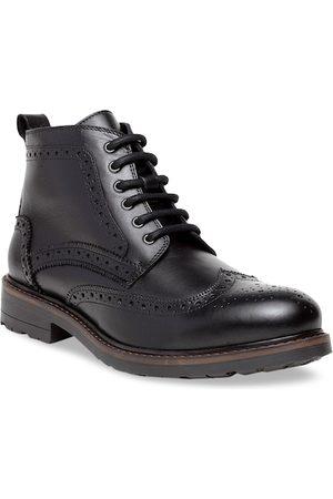 Teakwood Leathers Men Black Leather Brogues