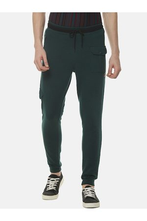 Campus Men Green Solid Straight-Fit Joggers