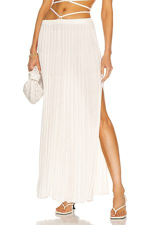 CHRISTOPHER ESBER Pleated Knit Tie Skirt in Natural