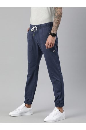 Tommy Hilfiger Men Blue Regular Fit Solid Organic Cotton Joggers