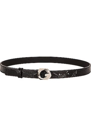 Givenchy G Chain Embossed Croc Buckle Belt in